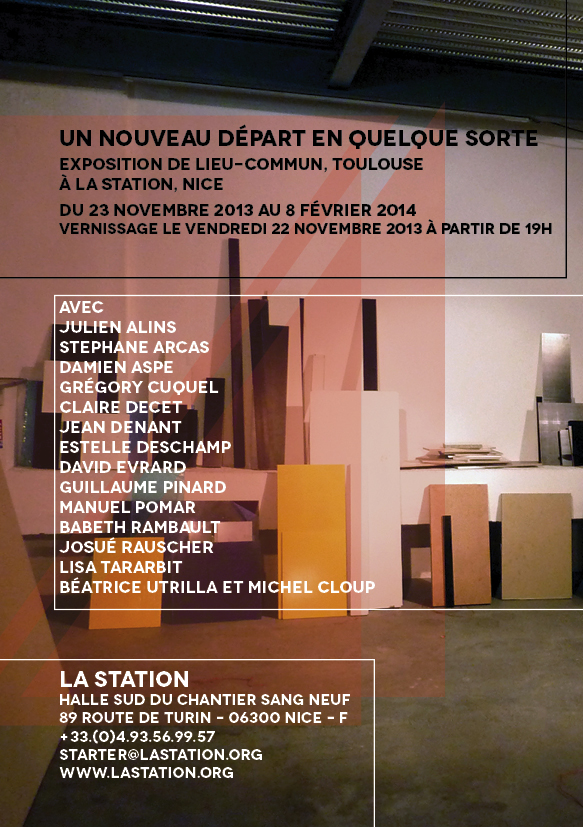 lieu commun la station contemporary art nice toulouse