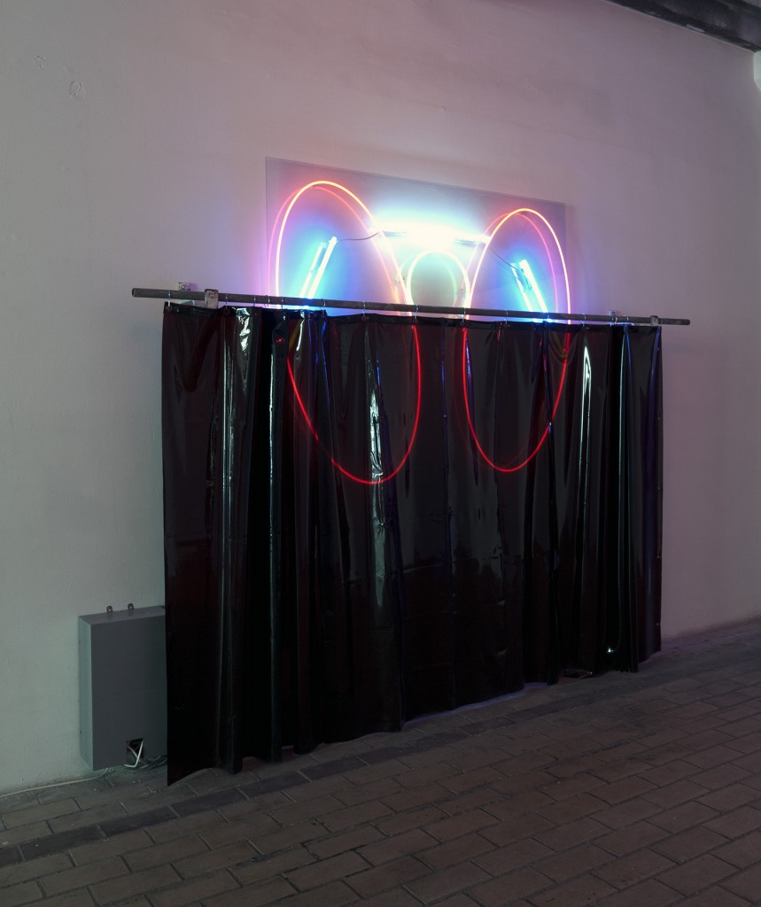 sho-oter exhibition pauline brun remi groussin performance neon sculpture contemporary art la station nice artist run space