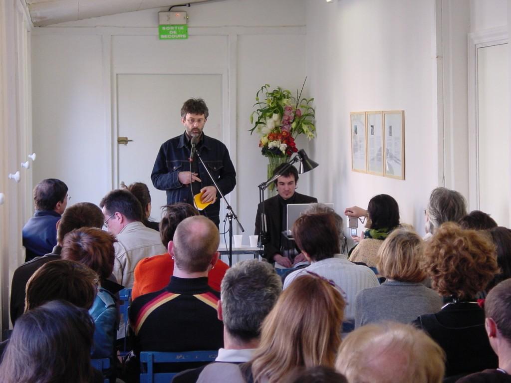 Eric Giraud et Joffrey Ferry printemps des poètes bascule oratoire art contemporain nice