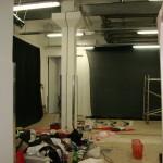 montage du décor de Laboratorium art contemporain nice