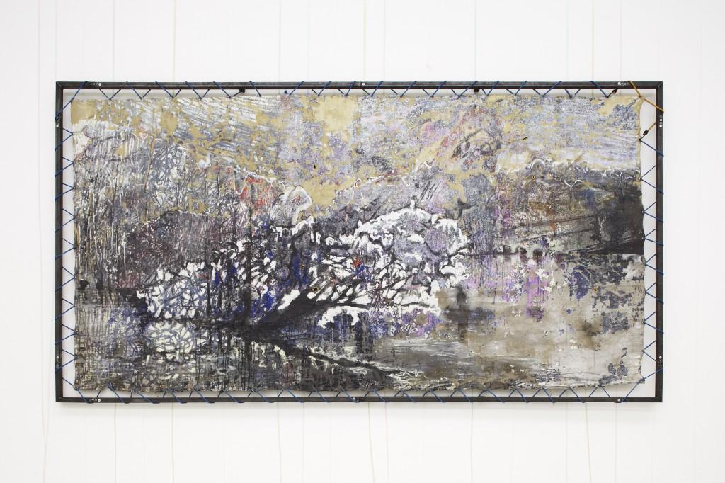 Cédric Teisseire, Proposition pour le CAN, 2011 (peinture murale), David Raffini, Labotomie aux oeillets, 2011 (tableau)
