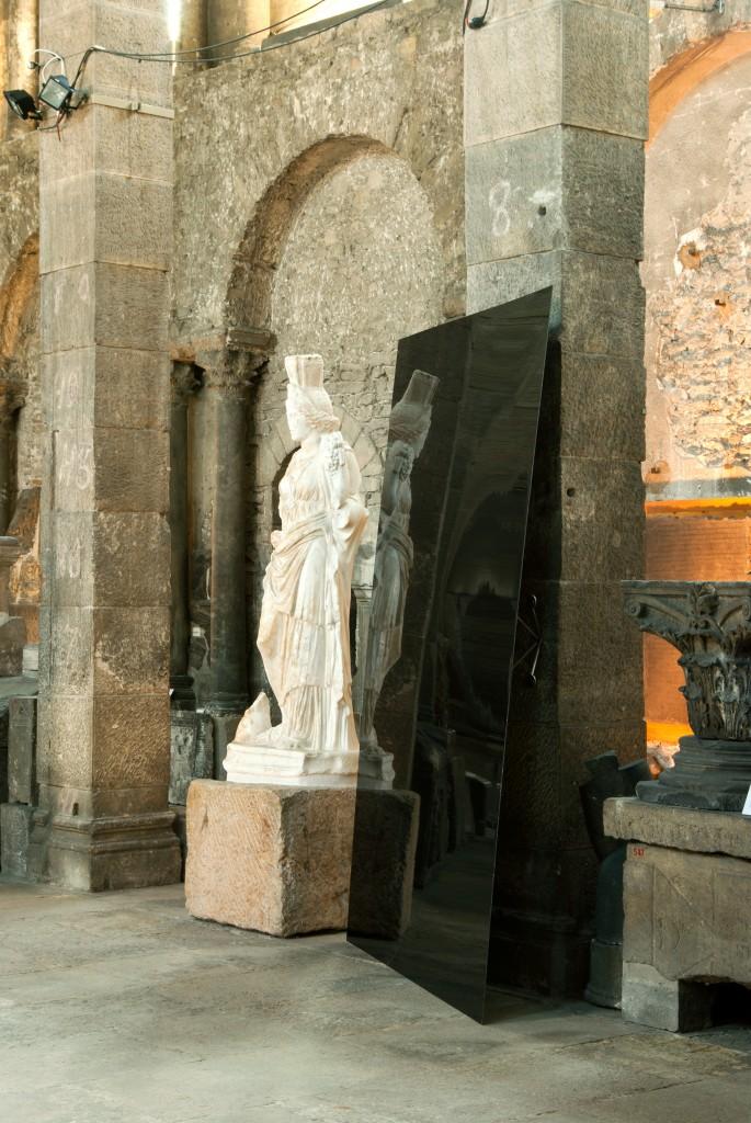 """Musée St Pierre Cédric Teisseire """"Point de chute"""", 2011, laque sur Dibond, circa 200 x 200 cm"""