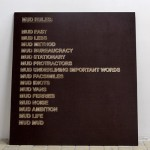 MUD OFFICE - Mud Rules (extract) - La Station -  Art Contemporain - Nice - A Raft of Measures