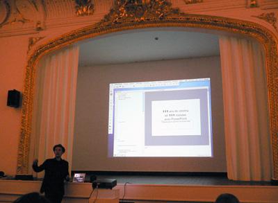 Jean-Marc Chapoulie - Alchimicinéma — 111 ans de cinéma en 111 minutes avec Powerpoint - La Station -  Art Contemporain - Nice - Alchimicinéma — I