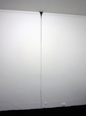 Cédric Teisseire - In Between, 2008 –  laque noire mate / matt black lacquer  - La Station -  Art Contemporain - Nice - Carte blanche à La Station au Palais de Tokyo