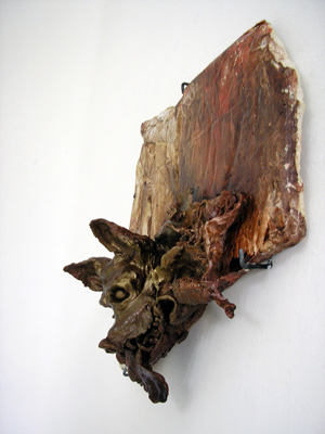 Sarah Tritz - Le chien-chimère (Se souvenir de la suite / Série II) — 2006 - La Station -  Art Contemporain - Nice - Certains travaux doivent être accomplis à la surface du sol...