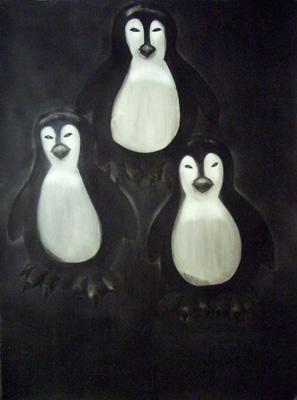 Michael Dans - Les Trois Cruels, 2008.  Encre de chine sur papier  - La Station -  Art Contemporain - Nice - Écotone