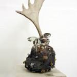 Erik Dietman - La Reine Ca. 1994.  Verre, bois de renne - La Station -  Art Contemporain - Nice - Écotone