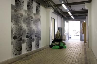 Michel Fran - Bouleau, 2002. Affiches   - La Station -  Art Contemporain - Nice - Écotone