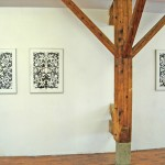 Karim Ghelloussi -  Amalgames [encre, acrylique, 70 x 50 cm (x3) – 2007] - La Station -  Art Contemporain - Nice - La Station à Perpignan