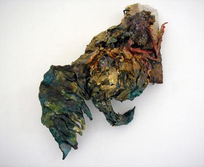 Sarah Tritz - La grue (Se souvenir de la suite / Série II) — 2006 - La Station -  Art Contemporain - Nice - Certains travaux doivent être accomplis à la surface du sol...
