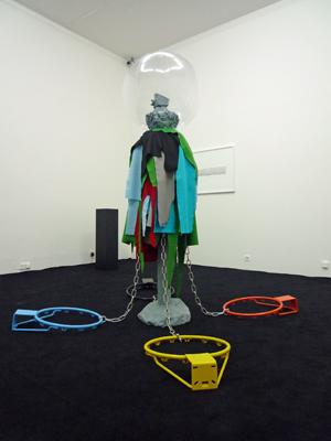 Jacques Julien - Le beatnick et l'oiseau, 2007 –  technique mixte / mixed media  - La Station -  Art Contemporain - Nice - Carte blanche à La Station au Palais de Tokyo
