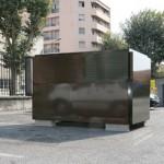 Matthieu Clainchard - Antimatière / avenue Thiers, 2009. 140 x 240 x 150 cm, métal criblé peint - La Station -  Art Contemporain - Nice - Écotone