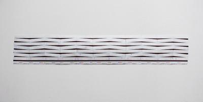 Marion Orel - Wagram-Iéna, 2008 –  assemblage de tickets de métro / combination of metro tickets  - La Station -  Art Contemporain - Nice - Carte blanche à La Station au Palais de Tokyo