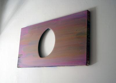 Adrian Schiess - Coucher de soleil avec demi lune — 2006 - La Station -  Art Contemporain - Nice - Adrian Schiess