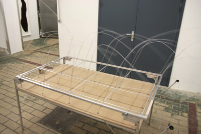 Table des vents, 2005. Techniques mixtes - La Station -  Art Contemporain - Nice - Écotone