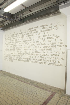 Sara Mas - Musée National Marc Chagall 8 octobre 2011 - La Station -  Art Contemporain - Nice - Que sera sera II