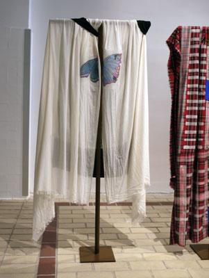 Ingrid Luche - Papillon et Projection + eau + percée + envers, 2011 - La Station -  Art Contemporain - Nice - Ingrid Luche / Bruno Serralongue