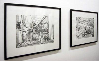 Alexandra Pellissier - Sans titre (série Les Cages), 2008. Crayon sur papier, 60 x 70 cm  - La Station -  Art Contemporain - Nice - Écotone