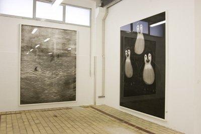 Michael Dans - Le Déluge, 2008. Les Trois Cruels, 2008 Encre de Chine sur papier  - La Station -  Art Contemporain - Nice - Écotone