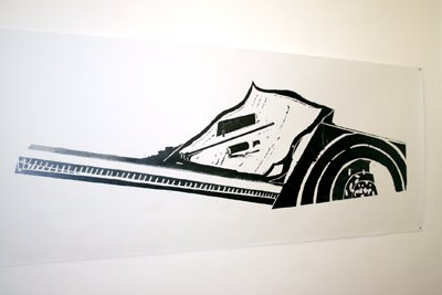 Julien Tiberi - Ligne différée sous air maoïste — 2006 - La Station -  Art Contemporain - Nice - Certains travaux doivent être accomplis à la surface du sol...