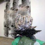 Karim Ghelloussi - Sans titre (Descendu des hauteurs où règne la lumière), 2008. Techniques mixtes  - La Station -  Art Contemporain - Nice - Écotone