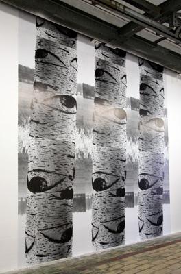 Michel François - Bouleau, 2002. Affiches   - La Station -  Art Contemporain - Nice - Écotone