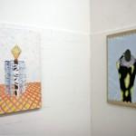 Zora Mann - Julien, 2007. Acrylique sur toile – Cindy, 2007. Acrylique sur toile - La Station -  Art Contemporain - Nice - Écotone