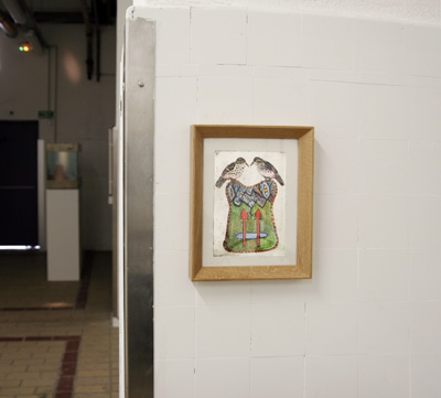 Zora Mann - Sans titre, 2009. Gravure et aquarelle sur papier - La Station -  Art Contemporain - Nice - Écotone
