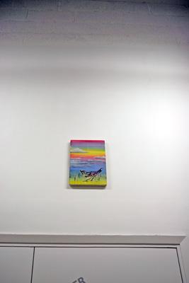 Sans titre, 2007. Acrylique sur toile  - La Station -  Art Contemporain - Nice - Écotone