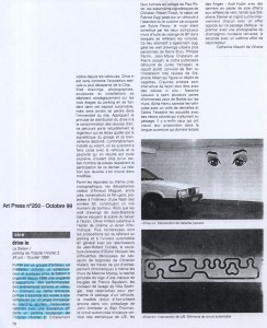 Octobre 1999 Art Press