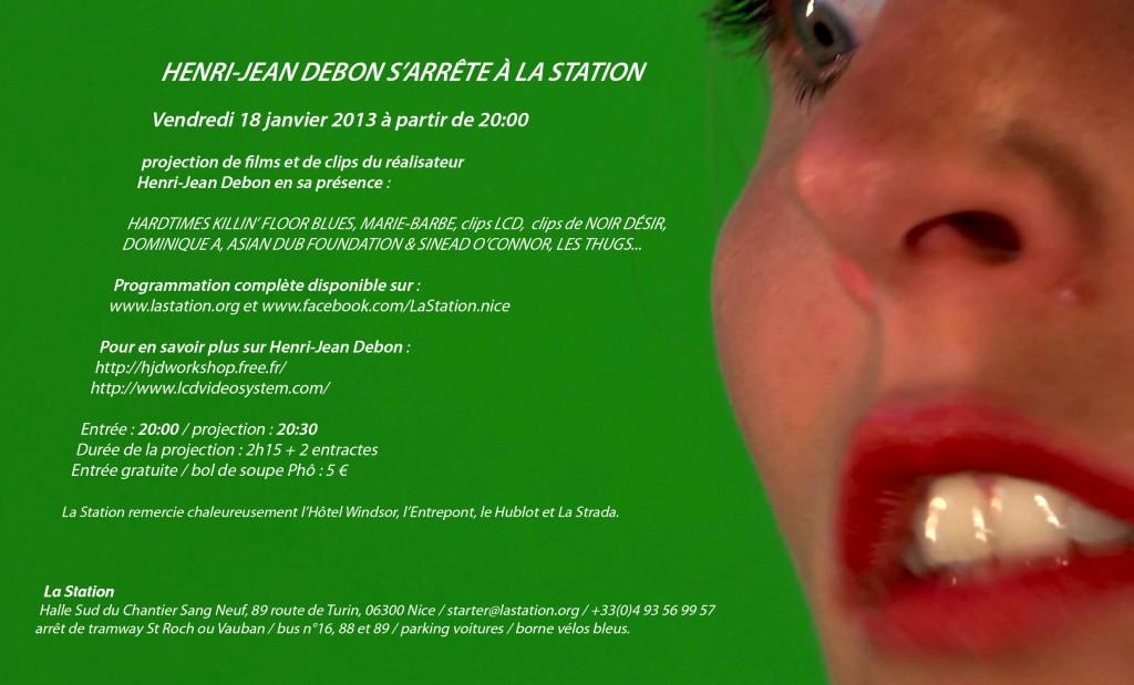 Henri-Jean Debon s'arrête à la Station noir désir art contemporain nice projection
